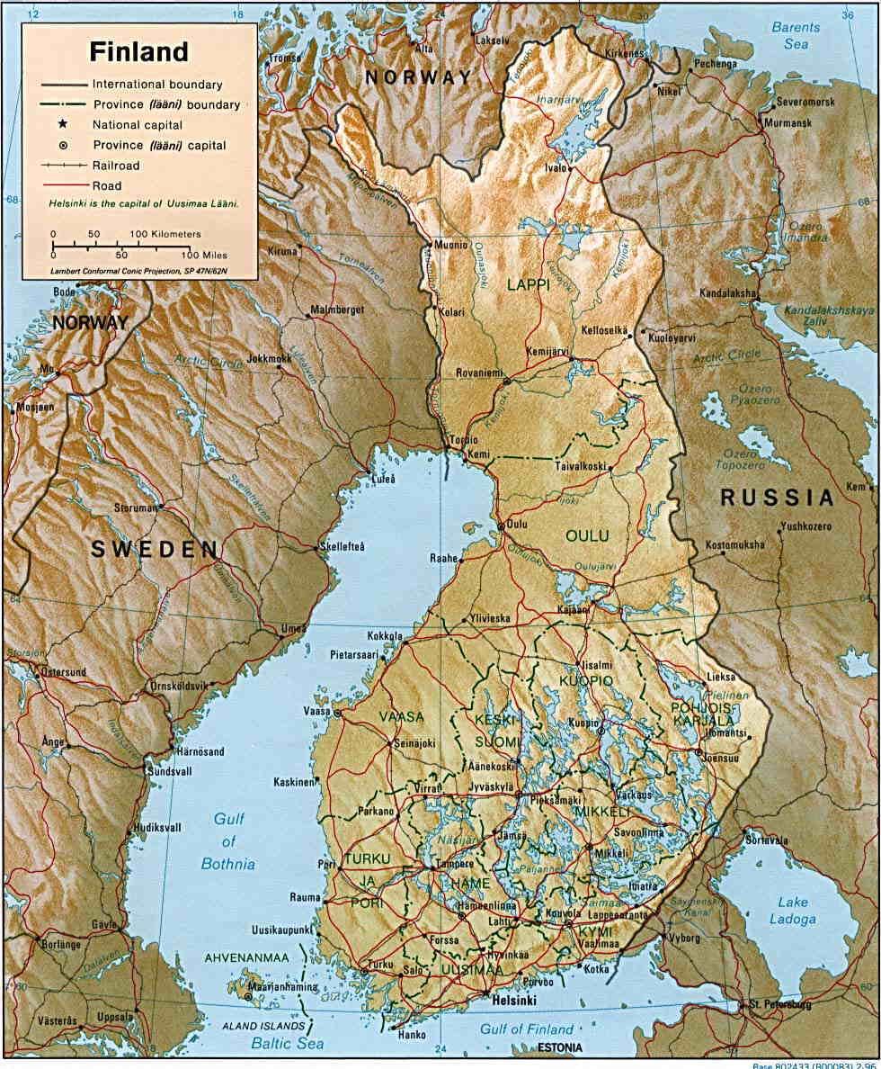 Finnland liegt im norden europas und reicht bis zum 70 grad